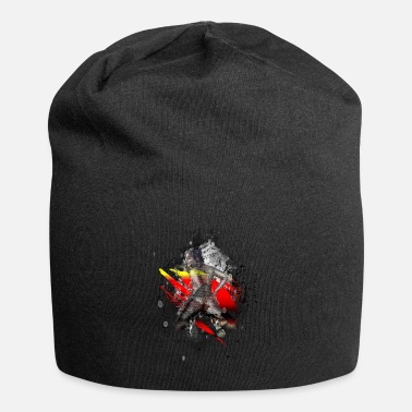 Paint Splatter Erotic sexy woman modern art - Beanie