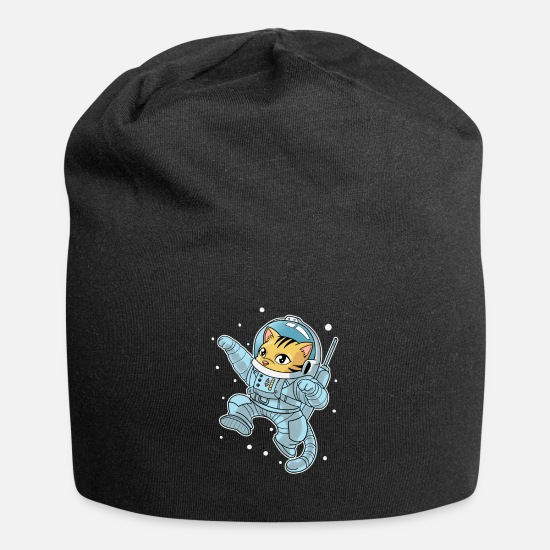 Grappige Petten & mutsen - Cats Astronaut Space All Weightless Kittens - Beanie zwart