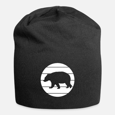 Brown Bear Bear wild animal silhouette - Beanie