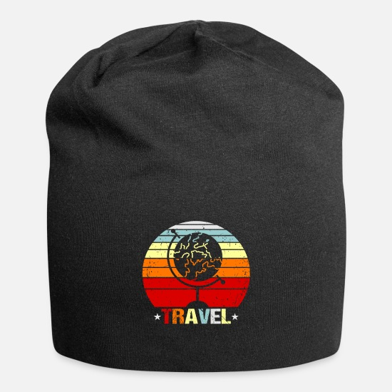 Travel Caps & Hats - Travel traveler gift idea - Beanie black