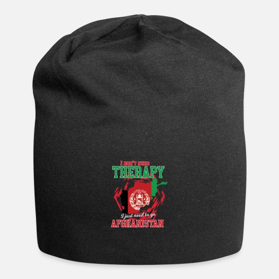 Travel Caps & Hats - I don't need therapy - afghanistan - Beanie black