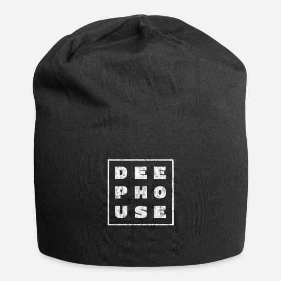 I Love House Caps & Hats - I Love Deep House Music - I Love EDM Music - Beanie black