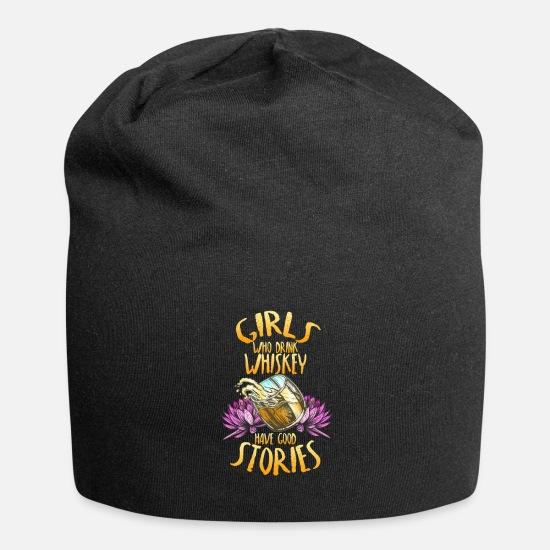 Alcohol Caps & Hats - Whiskey Bourbon Cocktail Lover Gift - Beanie black