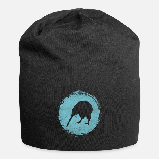 Kiwi Caps & Hats - New Zealand kiwi backpacker - Beanie black