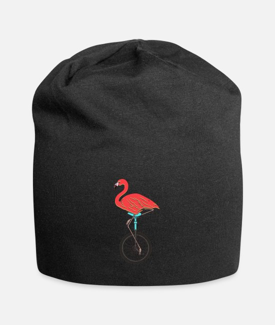 Circus Caps & Hats - Unicycle, unicycle flamingo - Beanie black