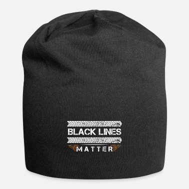Jdm Black Lines Matter Vehicle Kilpa-auto Burnout Raci - Beanie-pipo