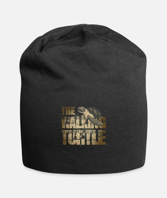 Turtle Caps & Hats - The walking turtle - Beanie black