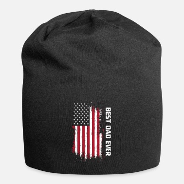 Parents Vintage Best Dad Ever American Flag Father's Day G - Beanie