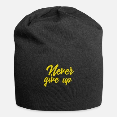 Keep Calm Never give up vintage - Beanie