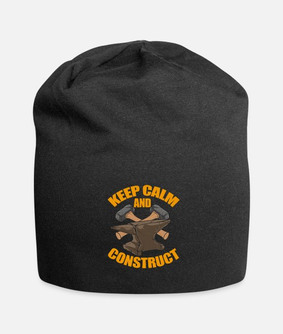 Hipster Caps & Hats - Metalworker - Keep Calm And Construct - Therapy - Beanie black