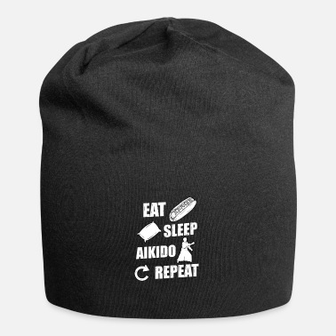 Fighter Eat Sleep Aikido Repeat Gift Idea - Beanie