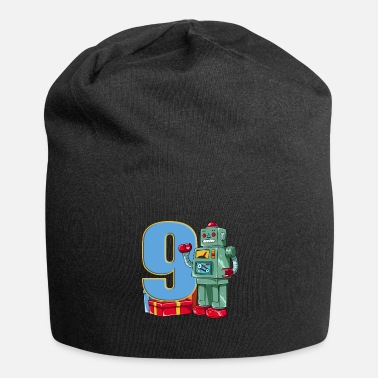 Technology Retro robot children's birthday - 9 years - Beanie
