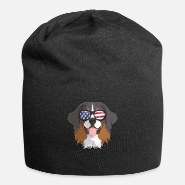 Strip Patriotisk Bernese Mountain Dog Merica American - Beanie