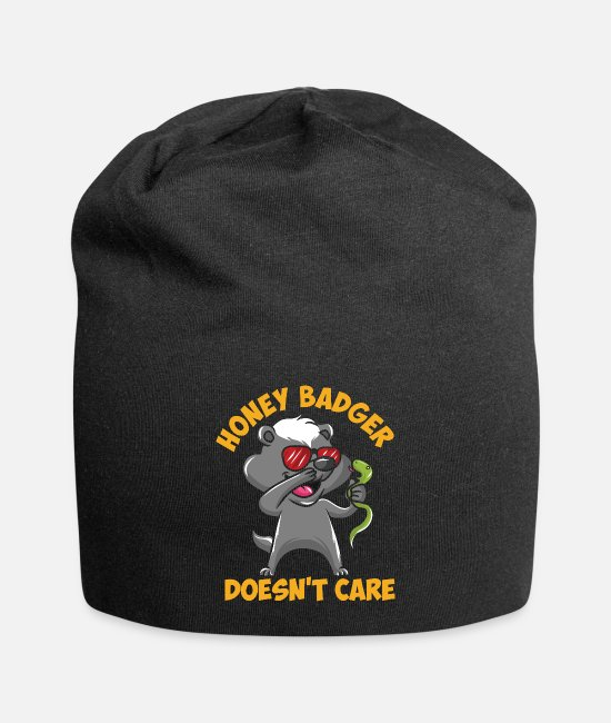 Masque Casquettes et bonnets - Honey Badger s'attaque au serpent - Beanie noir