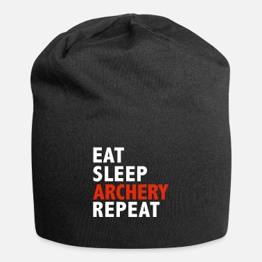 Valentine's Day Eat Sleep Archery Repeat Hunting Bow Arrow - Beanie