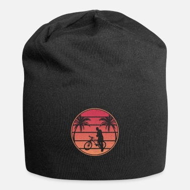 Electric Vintage Bicycle Retro Sunset - Beanie