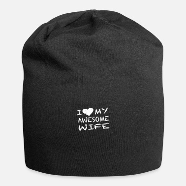 Proof Of Love I Love my Wife Valentine's Day gift for women - Beanie