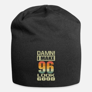 Established Damn I Make 96 Look Good Funny 96th Birthday Gift - Beanie