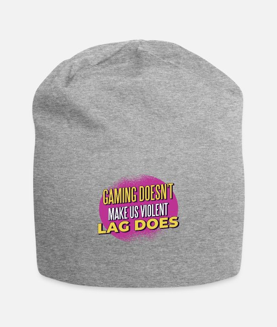 Video Game Caps & Hats - slow computers - Beanie heather grey