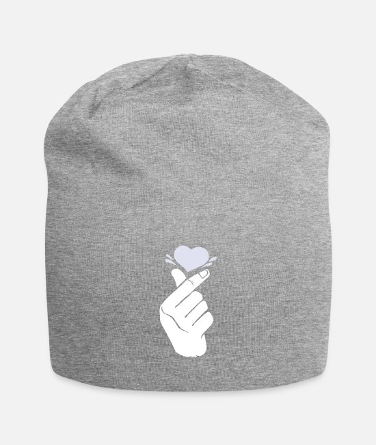Pop Caps & Hats - Kpop - Beanie heather grey