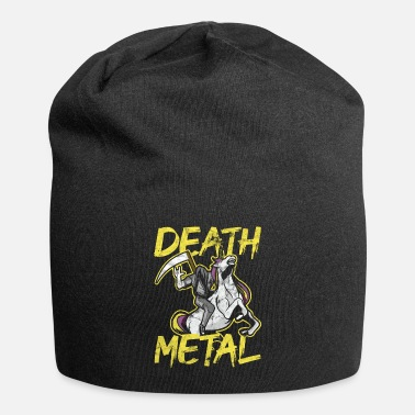 Grim Reaper Unicorn Death Metal Rocker Go To Hell Gift - Beanie