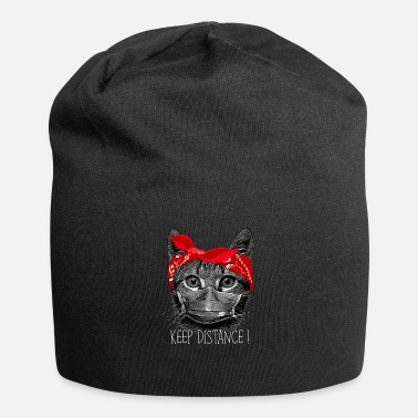 Cat Keep Your Distance Keep distance ! Cat cat with face mask - Beanie