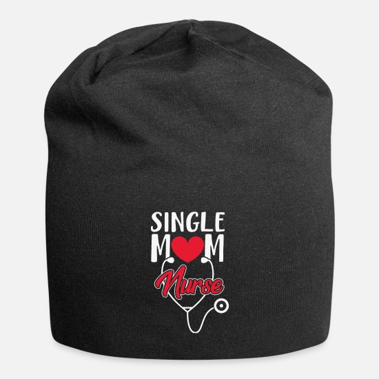 Broken Caps & Hats - Single mother nurse - Beanie black