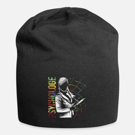 Gift Idea Caps & Hats - Psychologist mental - Beanie black