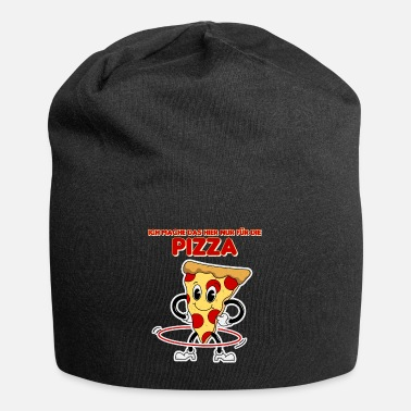 Funny Retro Pizza Hula Mature Design - Beanie