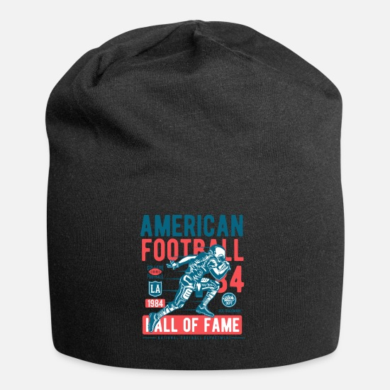 American Football Caps & Hats - American Football Ball Sports College Touchdown USA - Beanie black