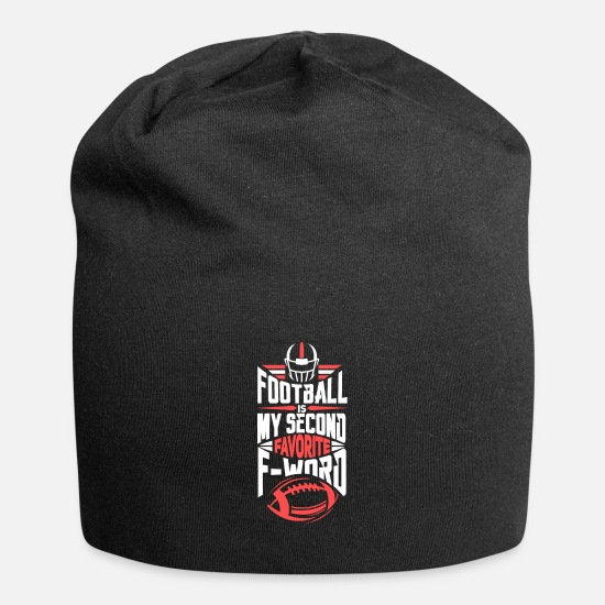 Stadium Caps & Hats - Funny Football Favorite F-word College Gift - Beanie black