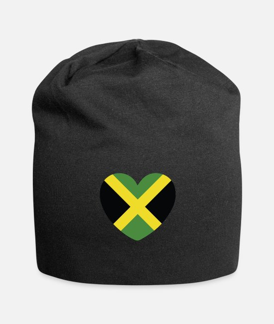 English Caps & Hats - COOL JAMAICA FLAG DESIGN - Beanie black
