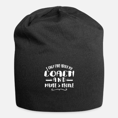 Car Old Man With A Coach Coach Gift For Fathers - Beanie
