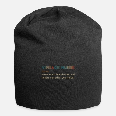 She Vintage Nurse Knows More Than She Says And Notices - Beanie