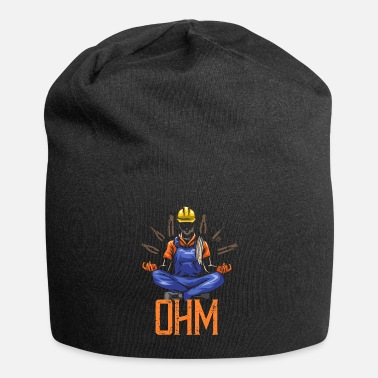 Worker Ohm Meditating Electrician Construction - Beanie