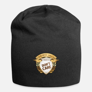 I Solemnly Swear I don't care I solemnly swear that Lustiger Spruch - Beanie