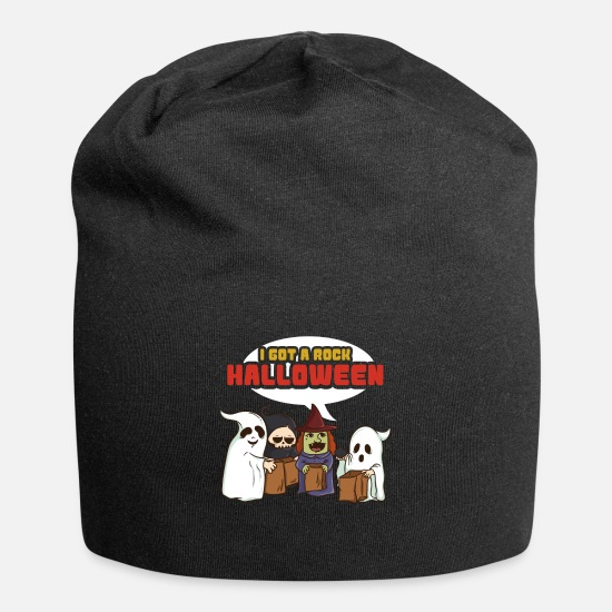 Gift Idea Caps & Hats - I have a rock Halloween - Beanie black