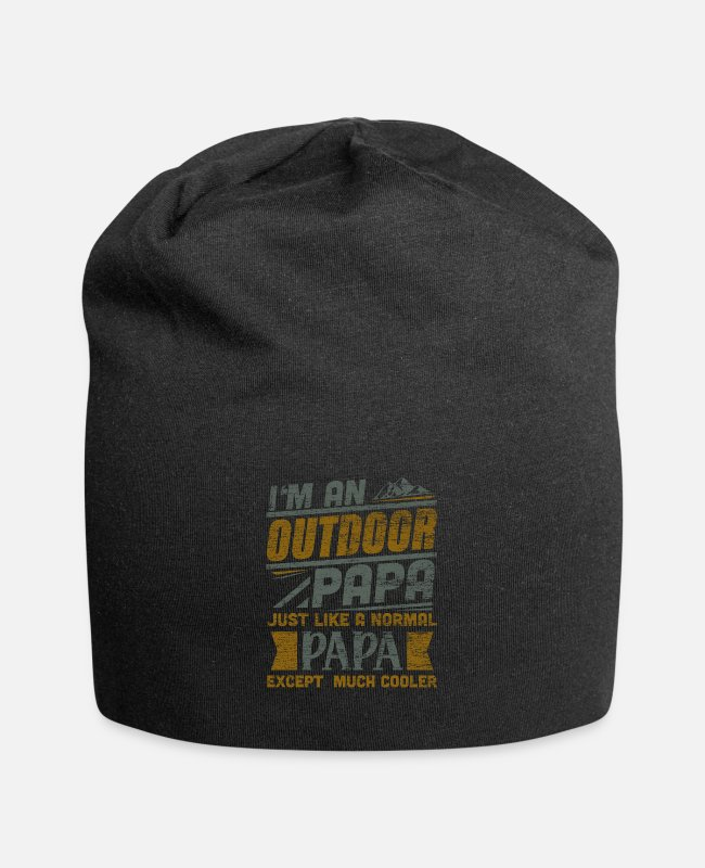 Mountains Caps & Hats - Outdoor dad - Beanie black
