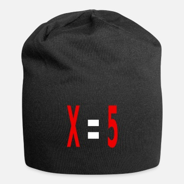 Variable Not Found x equals 5 v2 white - Beanie