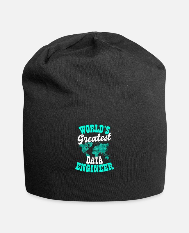 Programmemer Caps & Hats - Data Nerd Worlds Greatest Data Engineer Gift - Beanie black