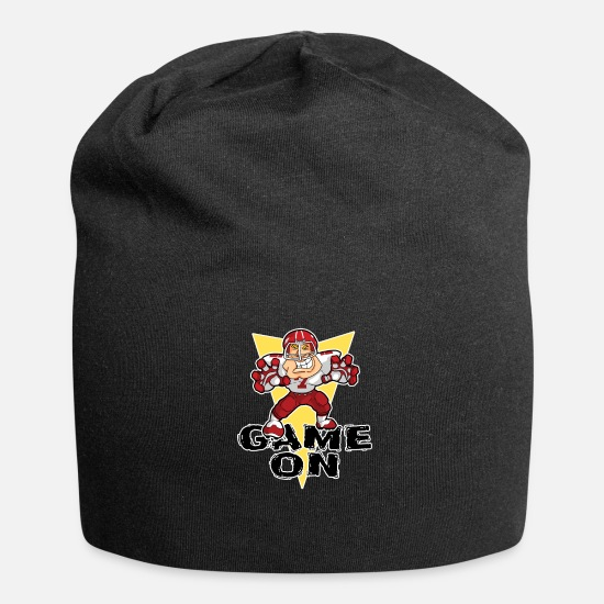 College Caps & Hats - Red Football Fan College GameDay Kids TShirt - Beanie black