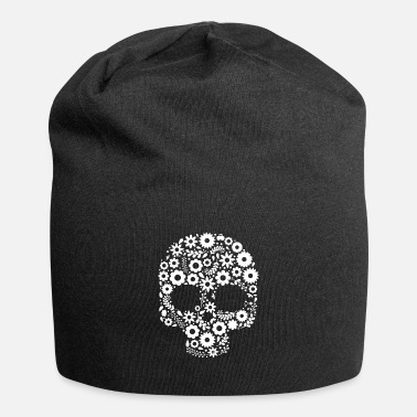 Skull Sugar Skull Calavera print Gift for Mexican Decor - Beanie