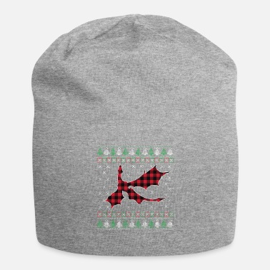 Vacaciones Navidad Cool Dragon Buffalo Plaid Xmas Holiday - Beanie