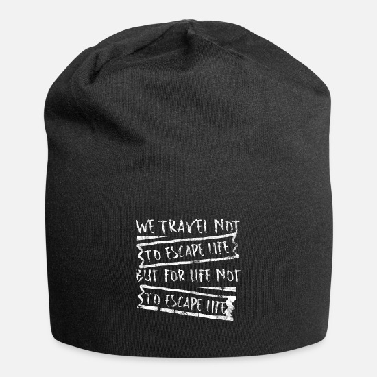Vacation Country Caps & Hats - Traveling World Travel Traveling Hiking Travel Gift - Beanie black