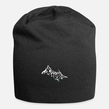 Skiing Mountain Skiing Skier Ice Snow Skater Winter - Beanie