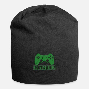 Green green gamer - green player - Beanie