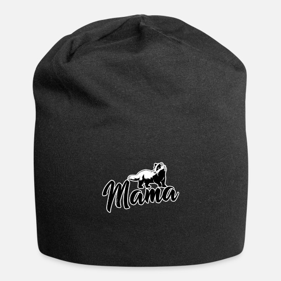 Forest Animal Caps & Hats - Mama Honey Badger Feisty Marten Ratel Thief Gift - Beanie black