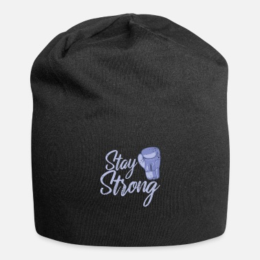 Graphic Art Stay Strong boxes - Beanie