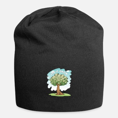 Wealth Let It Grow Money Tree Stocks Investor Gift - Beanie