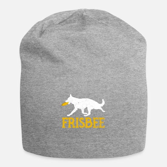 Birthday Caps & Hats - Funny dogs Frisbee sports hobby gift idea - Beanie heather grey